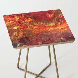 Acrylic Pour #45 Lava-Love Side Table