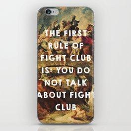 The Battle of the Amazons (1615), Peter Paul Rubens // Fight Clu b (1999), David Finche r iPhone Skin