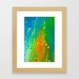 Aqua orange Framed Art Print