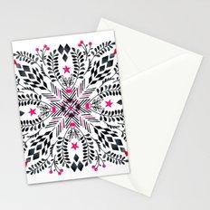 Winter Graphic Folk Art Pattern Stationery Cards