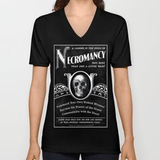 Faux School of Necromancy Recruitment Poster Unisex V-Neck