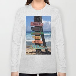 Beach Signs Long Sleeve T-shirt