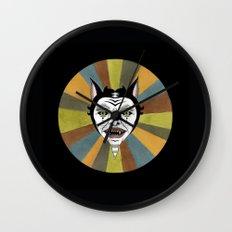 Cat Color Wheel No. 1 Wall Clock