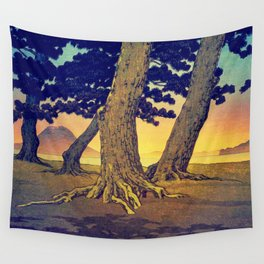 Domi's Heart at Sunset Wall Tapestry