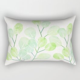 Jade Plant Watercolor Rectangular Pillow