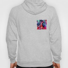 lava meets the sea abstract oil painting Hoody