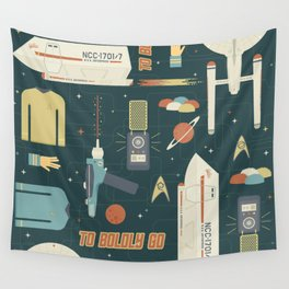 To Boldly Go... Wall Tapestry