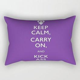 Feminist Keep Calm and Carry On Rectangular Pillow