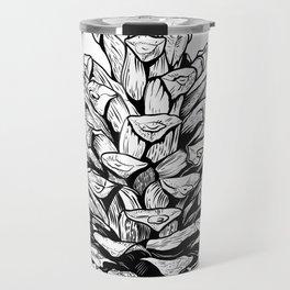 Pine cone illustration Travel Mug