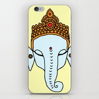 ganesha iPhone & iPod Skins featuring Ganesha by RaJess