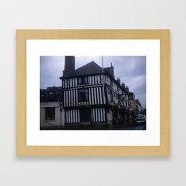 Vintage England Art Print * Kodachrome * 1950's * Falcon Hotel * Stratford * European Photography Framed Art Print