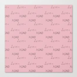 XO Love Canvas Print