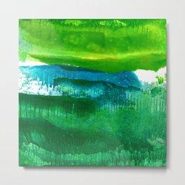 Encaustic Abstract No.27N by Kathy Morton Stanion Metal Print