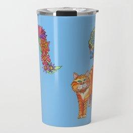 Classy Cat Chloe (Blue) Travel Mug