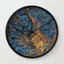 Charred Wood Texture Wall Clock