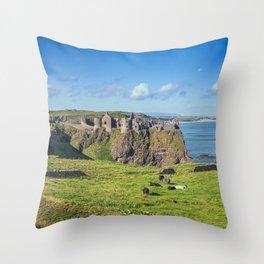 The Atlantic Ruin Throw Pillow