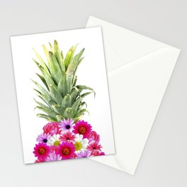 Pineapple Flowers Stationery Cards