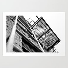 Alley balcony Art Print