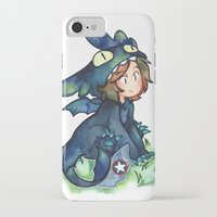 toothless iPhone & iPod Cases featuring toothless by noCek