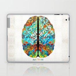 Colorful Brain Art - Just Think - By Sharon Cummings Laptop & iPad Skin