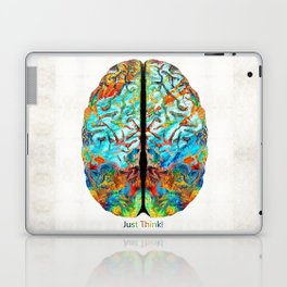 Colorful Brain Art - Just Think - By Sharon Cummings Laptop & iPad Skin