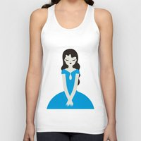 dress Tank Tops featuring Blue dress by Marco Recuero