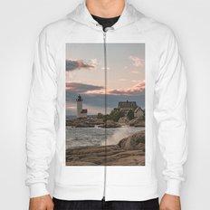 Annisquam Lighthouse sunset Hoody