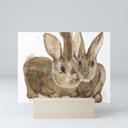 Oliver & Jack - Wild Rabbits Mini Art Print