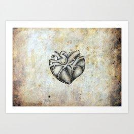 Ancient heart Art Print