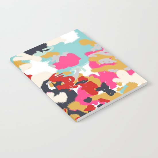 Inez - Modern Abstract painting in bold colors for trendy modern feminine gifts ideas  Notebook
