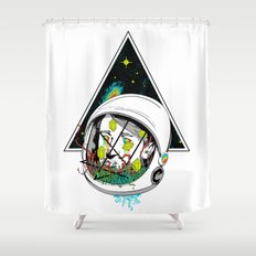 Space Gummies Shower Curtain