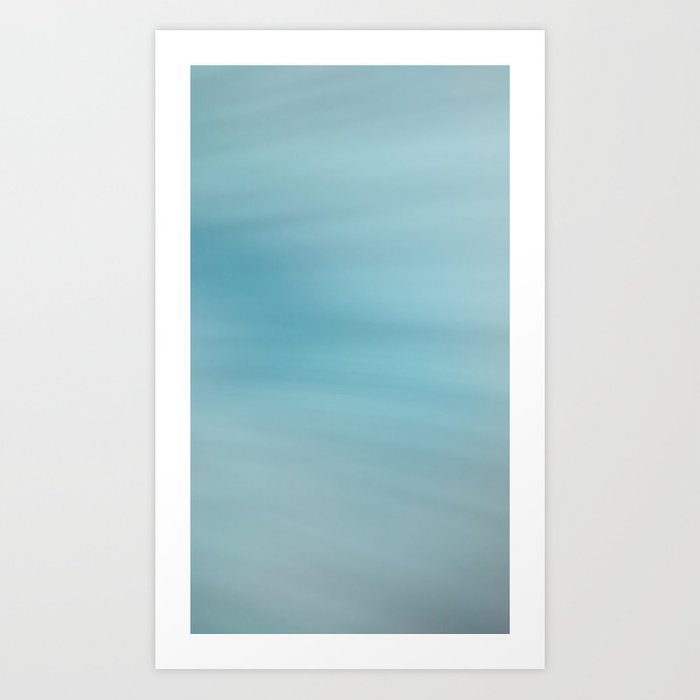 Blue Burst Art Print