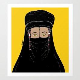Woman in burqa Art Print