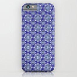Princess Blue and light Neon Green Flower Motif iPhone Case