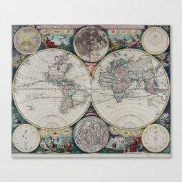 Atlas Maritimus - Vintage World Map Canvas Print