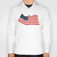american flag Hoodies featuring American Flag by George Robinson