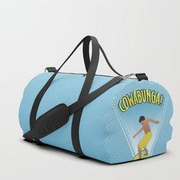 Cowabunga Flow-boarding Pop Art Duffle Bag