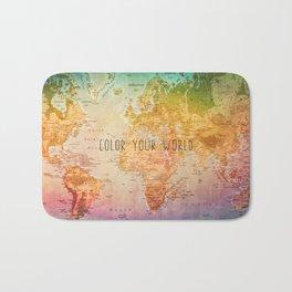 Color your World Bath Mat