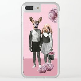animal love Clear iPhone Case
