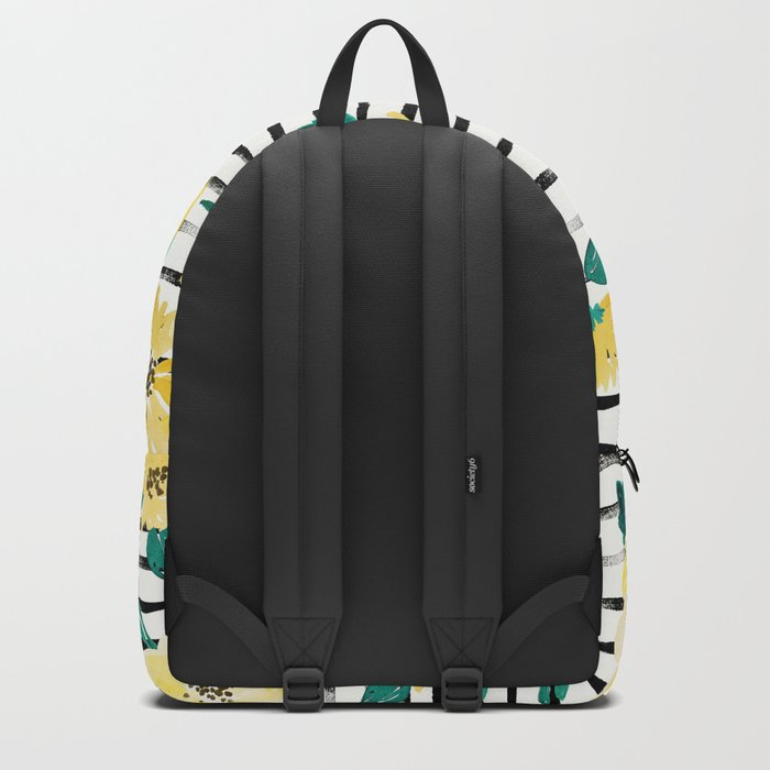 Happy flowers Stripe Backpack