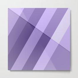 Ultra violet purple modern geometric lines Metal Print