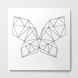 Geometric Butterfly Metal Print