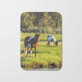 Leaving The Chincoteague Ponies Bath Mat