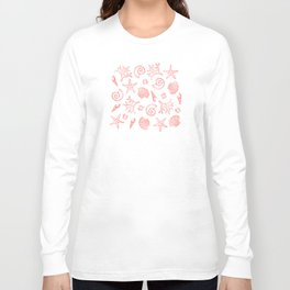 Lovely Life on Beach - Living Coral Long Sleeve T-shirt