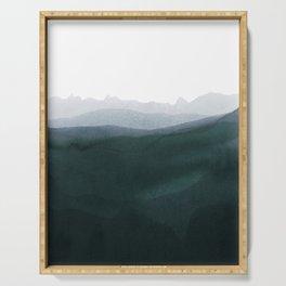 mountain horizon 3 Serving Tray