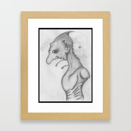 Funny creature wip Framed Art Print