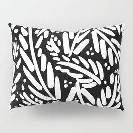 Leaf Pattern - White Pillow Sham