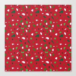 Christmas Terrazzo Canvas Print