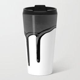 Black paint drip Travel Mug
