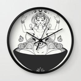 Ramen Noodle Bowl Anime Girl Drawing Wall Clock